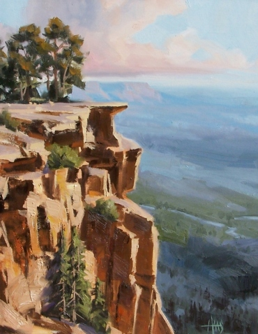 "Mogollon Rim - Arizona 20"" x 16"" oil painting by Tom Haas"