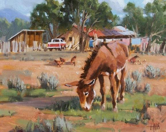 "Free Range 16"" x 20"" oil painting by Tom Haas"