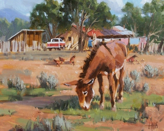 "Free Range 16"" x 20"" oil painting by Tom Haas"