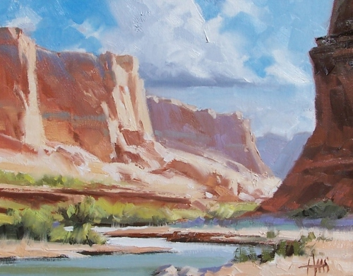 """Echo Canyon 11"""" x 14"""" oil painting by Tom Haas"""