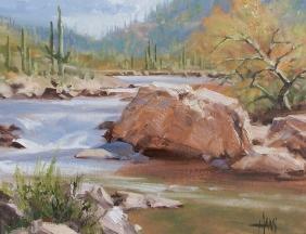 "Rainy Season 11"" x 14"" oil painting by Tom Haas"