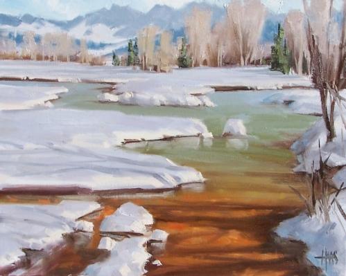 """B-R-R-R Colorado 16"""" x 20"""" oil painting by Tom by Tom Haas"""