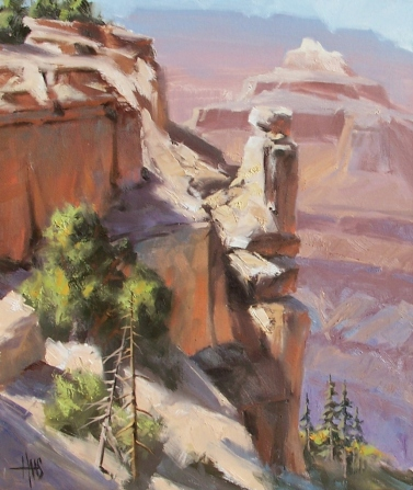 "Canyon Vista - Grand Canyon South Rim 24"" x 18"" oil painting by Tom Haas"