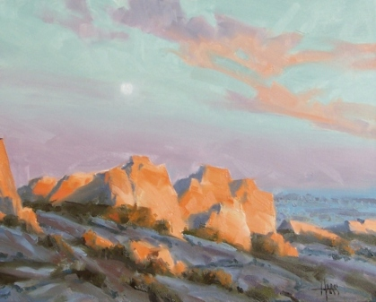 """East of Tombstone (Texas Canyon, Arizona) 16"""" x 20"""" oil painting by Tom Haas"""