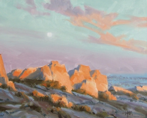 "East of Tombstone (Texas Canyon, Arizona) 16"" x 20"" oil painting by Tom Haas"