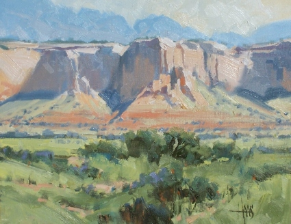 """Ghost Ranch - New Mexico 11"""" x 14"""" oil painting by Tom Haas"""