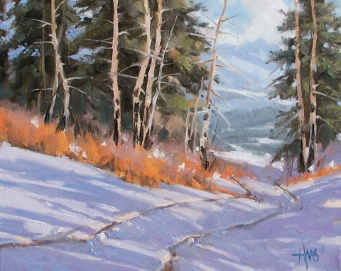 """Mile High 16"""" x 20"""" oil painting by Tom Haas"""