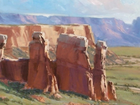 "Moab Canyon 36"" x 36"" oil painting by Tom Haas"