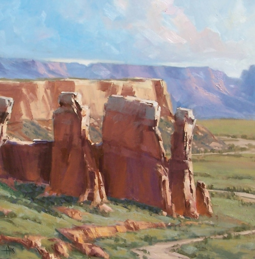 """Moab Canyon 36"""" x 36"""" oil painting by Tom Haas"""