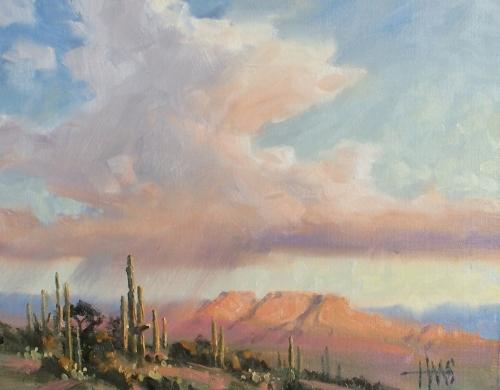 """Thunderhead 11"""" x 14"""" oil painting by Tom Haas"""