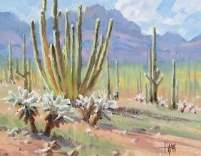 "Dreamy Draw - Arizona 11"" x 14"" plein airboil painting by Tom Haas"