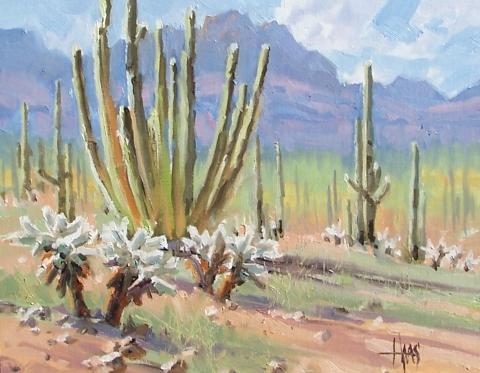 """Dreamy Draw - Arizona 11"""" x 14"""" oil painting by Tom Haas"""