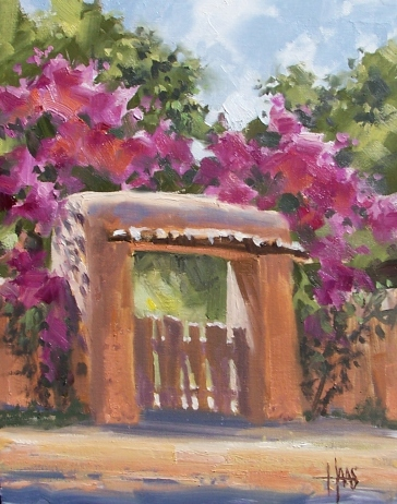 """Old Gate 14"""" x 11"""" oil painting by Tom Haas"""