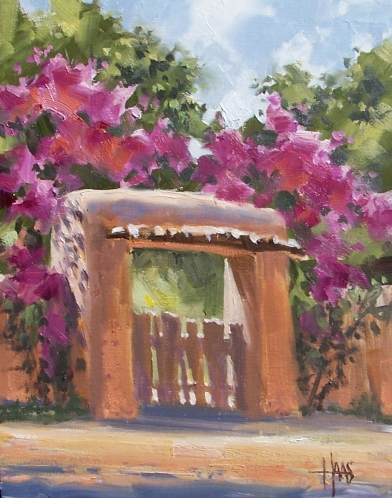 "Old Gate 14"" x 11"" oil painting by Tom Haas"
