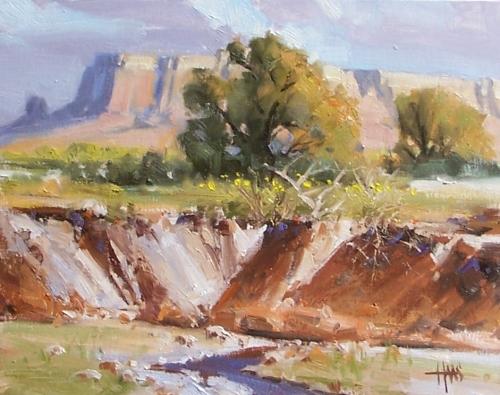 "Arroyo 11"" x 14"" oil painting by Tom Haas"