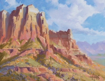 "Plateau Sandstone - Sedona 11"" x 14"" oil painting by Tom Haas"