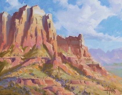 "Plateau Sandstone - Sedona 11"" x 14"" oil painting by Tom Haas"