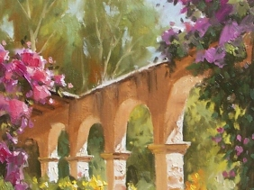 "Spanish Arches 14"" x 11"" oil painting by Tom Haas"