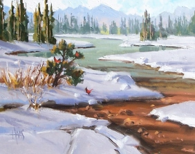 "Crisp Air - Colorado 11"" x 14"" oil painting by Tom Haas"