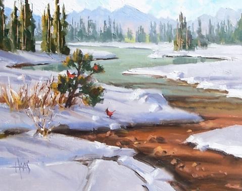 "Crisp Air - Colorado 11"" x 14"" oil painting by Tom Haas"