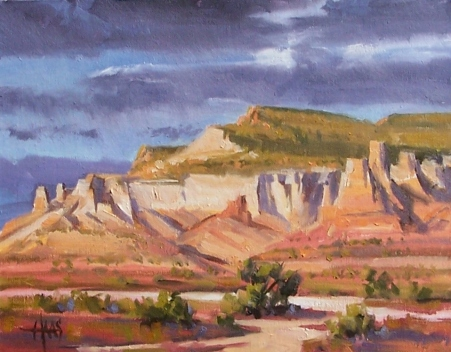 """Ghost Ranch - New Mexico 11"""" x !4"""" oil painting by Tom Haas"""