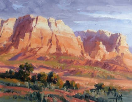 """Open Spaces - Sedona 11"""" x 14"""" oil painting by Tom Haas"""