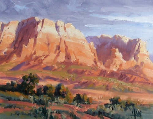 "Open Spaces - Sedona 11"" x 14"" oil painting by Tom Haas"