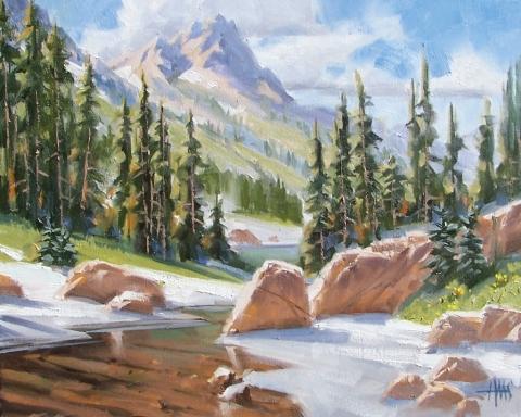 """Warm Winter - Utah 16"""" x 20"""" oil painting by Tom Haas"""