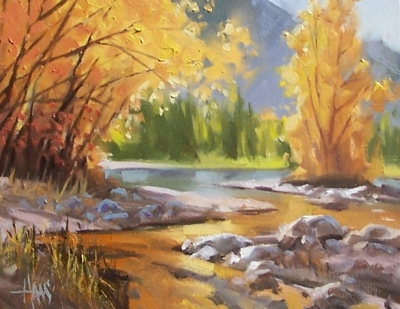 "West Fork - Oak Creek, Sedona 11"" x 14"" oil painting by Tom Haas"