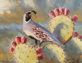 """Dawn's Greeting 11"""" x 14"""" oil painting by Tom Haas"""