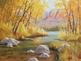 "South of Sedona - Arizona 16"" x 20"" oil painting by Tom Haas"