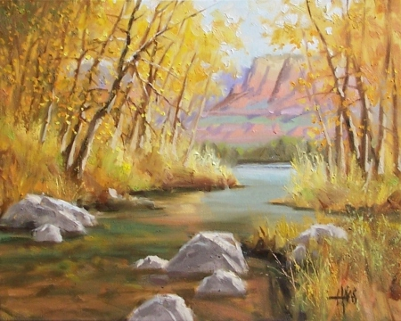 "South of Sedona - Arizona 16"" x 20"" oil painting by Tom Haas"