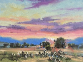 "Southwest Sunrise 11"" x 14"" oil painting by Tom Haas"