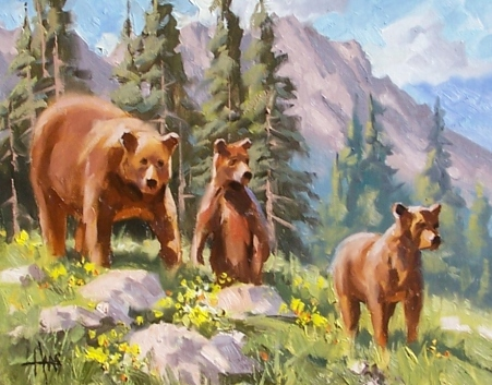 "Summer School - Wyoming 11"" x 14"" oil painting by Tom Haas"
