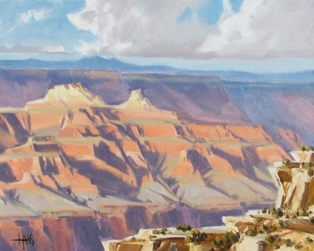 """Ever-Changing - Grand Canyon 16"""" x 20"""" oil painting by Tom Haas"""