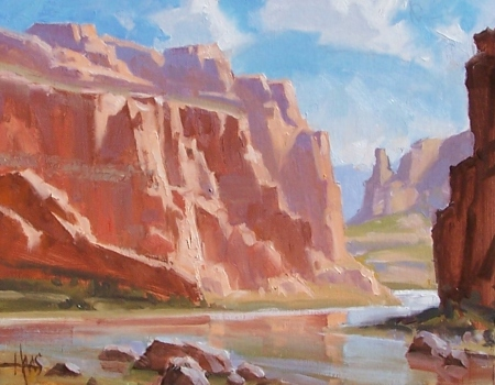 """River's Bend - Grand Canyon 11"""" x 14"""" oil painting by Tom Haas"""