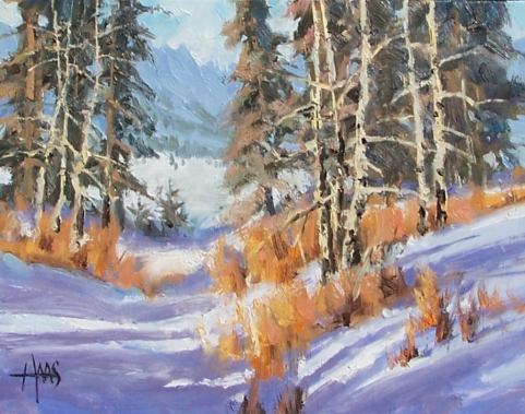 """Snow Country - Colorado 11"""" x 14"""" oil painting by Tom Haas"""