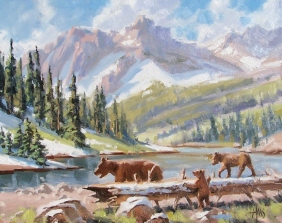 "Lessons - Wyoming 16"" x 20"" oil painting by Tom Haas"