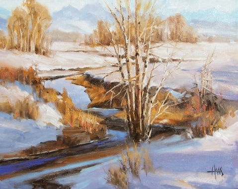 """Warm Springs - New Mexico 16"""" x 20"""" oil painting by Tom Haas"""