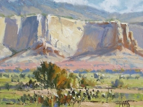 "Ghost Ranch - near Abiquiu, New Mexico 11"" x 14"" oil painting by Tom Haas"