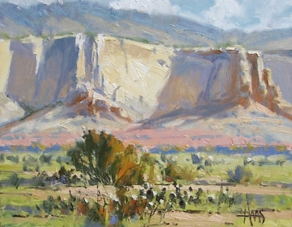 """Ghost Ranch - near Abiquiu, New Mexico 11"""" x 14"""" oil painting by Tom Haas"""