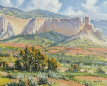 """Nature's Harmony - Ghost Ranch, New Mexico 16"""" x 20"""" oil painting by Tom Haas"""