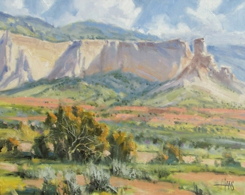 "Nature's Harmony - Ghost Ranch, New Mexico 16"" x 20"" oil painting by Tom Haas"