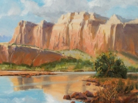 "Capitol Reef - Utah 16"" x 20"" oil painting By Tom Haas"