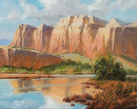 """Capitol Reef - Utah 16"""" x 20"""" oil painting By Tom Haas"""