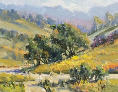"Oak Valley - Arizona 11"" x 14"" oil painting by Tom Haas"