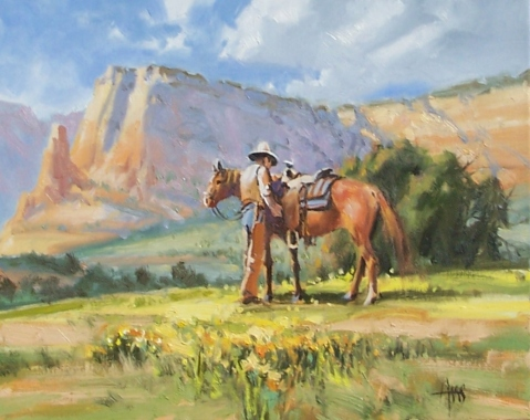 """Partners - Utah 16"""" x 20"""" oil painting by Tom Haas"""