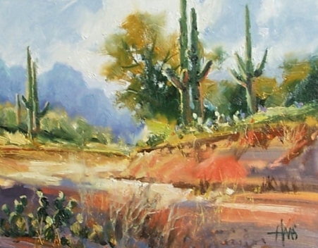 """South of Tucson 11"""" x 14"""" oil paintings by Tom Haas"""