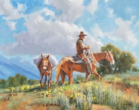 """Switchback 16"""" x 20"""" oil painting by Tom Haas"""