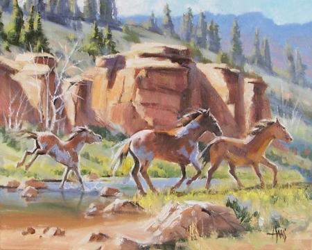 """East Verde Creek - Arizona 16"""" x 20"""" oil painting by Tom Haas"""